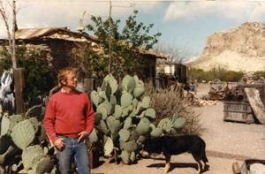 Warren Garrison after arriving to rebuild Steins, NM