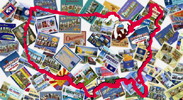 50 States and D.C. Postcard Set