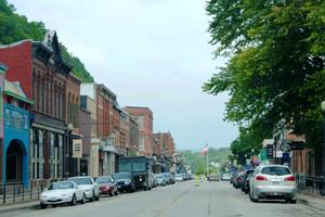 Downtown McGregor, Iowa, August 2014. Photo by Kathy Weiser-Alexander