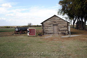 Recreated Ingalls Cabin near Independence, Kansas