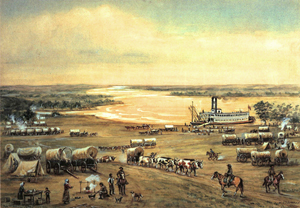 Westport Landing Missouri by William Henry Jackson